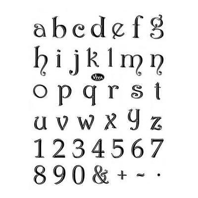 Viva Decor A5 Clear Silicone Stamps Set - Small Alphabet #46