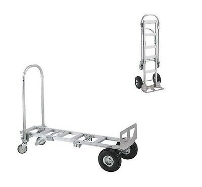 Wesco Aluminum Spartan Senior Convertible Hand Truck with Solid Rubber Wheels