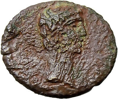 Augustus & Rhoemetalkes I AE Kingdom of Bosphorus Thrace Authentic Ancient Coin
