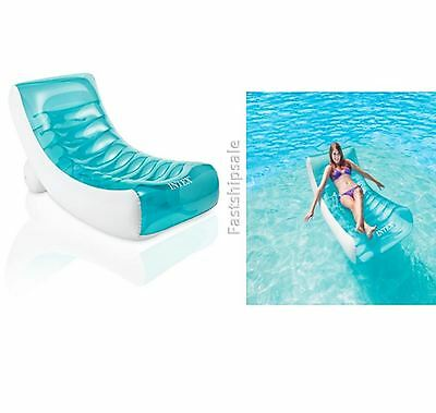 Relaxation Station Lounge Floating Island Inflatable Oasis Swimming Pool Raft