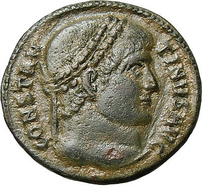 Constantine I Great AE VOT XX Authentic Ancient Roman Coin Thessalonica Mint