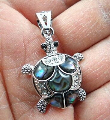 31*25MM Beautiful Abalone Shell carved the statue of tortoise PENDANT  S12