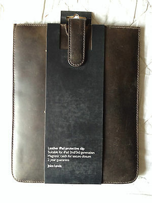 JOHN LEWIS LEATHER APPLE iPAD 2/3/4 PROTECTIVE SLIP