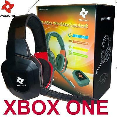 Wireless Gaming Stereo Headphones microphone for XBox One Game Sound Chat NEW