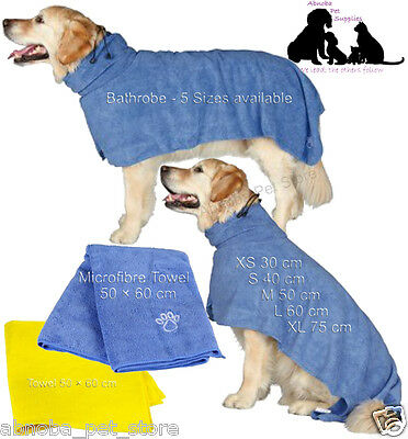 Dog Drying Coat | Bathrobe | Towel Easy Dry Ultra Absorbant After Walk Bath Show