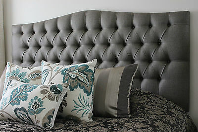 Designer Chenille Headboard All Sizes Colours Stylish High Quality Best Price 32