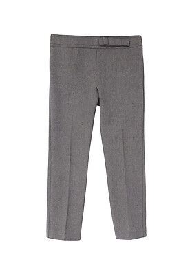 School Girls Bow Trim Trousers  adjustable waist   Grey   AGES 3-16 YEARS - NEW