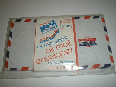 "Vintage Air Mail Envelopes 3 5/8"" x 6 1/2""  Lot of 25 -  Via Air Mail"