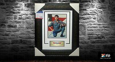 Tom Cruise - Top Gun - Signed & Framed Psa Dna Authenticated J60318