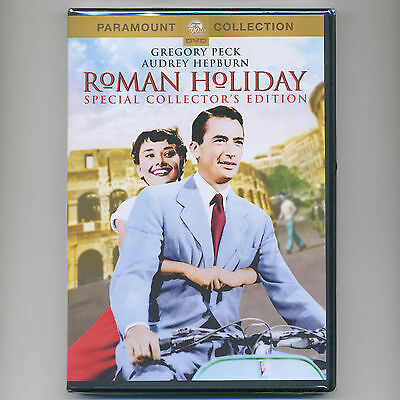 Roman Holiday 1953 romantic comedy movie DVD Audrey Hepburn, Gregory Peck, Rome