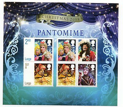 GB 2008 Christmas Pantomime unmounted mint mini / miniature sheet MNH m/s stamps
