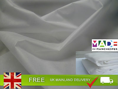 100% Cotton Mattress Topper Zipped Cover - COVER ONLY | All UK Bed Sizes