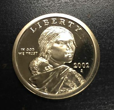 ESTADOS UNIDOS 1 DOLLAR 2002 S INDIA SACAGAWEA PROOF United States USA $1 Dolar