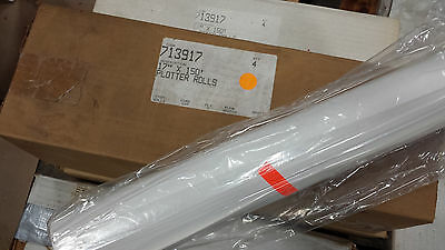 "Thermal Plotter Rolls- 17"" X 150'  5/8"" core- Box of 4 rolls! Used for Klein 595"