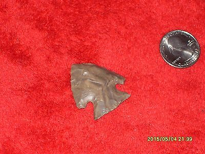 AMERICAN INDIAN Kick Point stem nearly perfect Early Archaic 9000-6000 BP