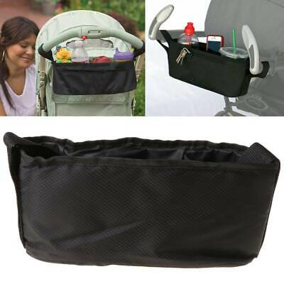 Storage Bag Parent Baby Stroller Tray Console Organizer Phone Drink Cup Holder