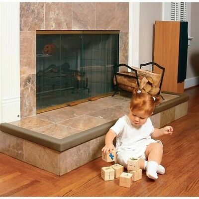 Baby Safety Fireplace Fire Surround Hearth Cushion Edge Guard Chocolate Brown