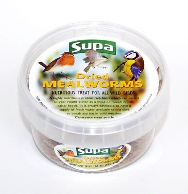 Supa Dried Mealworms Wild Bird Food Treat Various Sizes (Bulk Options)
