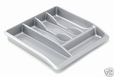 Addis Cutlery Drawer Organiser Tray Tidy ~ Black ~ Linen ~ Silver ~ Red