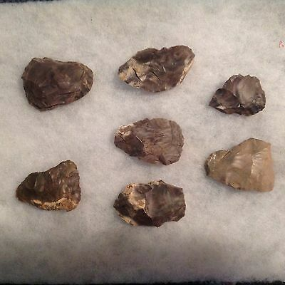 AMERICAN INDIAN 7 blanks or preforms pieces from Middle Tennessee