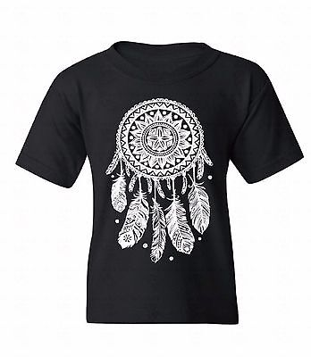 Dream Catcher White Youth T-shirt Native Indian Feathers Spirit Gift For Kids