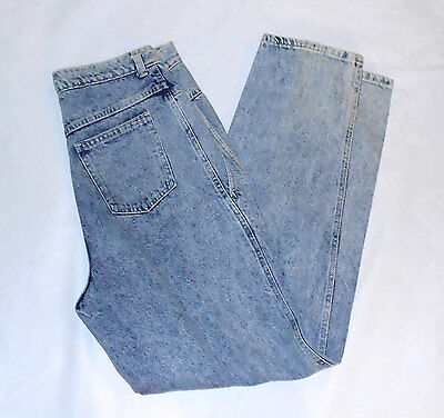 Deadstock 80s High Waist Acid Wash Jeans Elk Brand size 13/14 New Without Tags