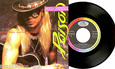 """7"""" - Poison - Every Rose Has Its Thorn (IN LIVE) (SPANISH ORIG. PROMO 1992) MINT"""