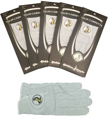 New 4 Pack Genuine 100% Cabretta Leather Golden Eagle Golf Glove Ladies Large