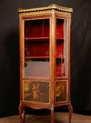 Antique French Empire Display Cabinet Bijouterie Vernis Martin 1890