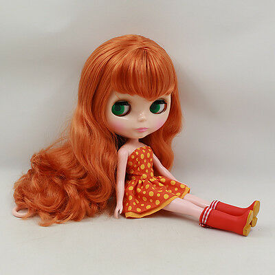 """12"""" Neo Blythe Doll CURLY Hair Nude Doll from Factory JSW76010+Gift"""