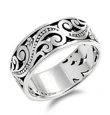 Thick Band Floral Ring, 925 Sterling Silver, w/FREE Gift Box, Elegant, Girly