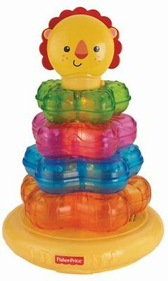 Fisher-Price Light-Up Lion Stacker Baby TOY, Unisex Toddler LEARNING TOY, Y6980