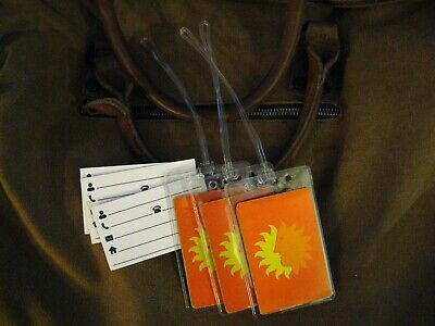 National Airlines Luggage Tags - Sun Logo Vintage Playing Card Name Tag Set (3)