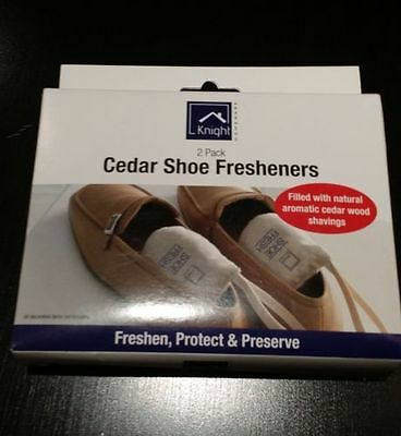Knight 2 Pack Cedar Shoe Freshener, Freshen, Protect & Preserve Your Shoes
