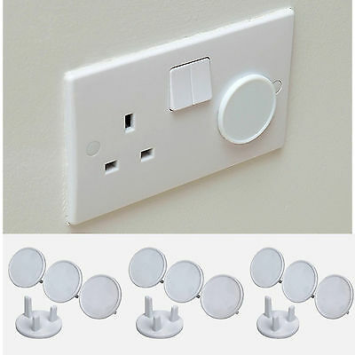 12 PACK Home Safety Plug Socket Covers Protectors Baby & Child Proof,Easy to Use