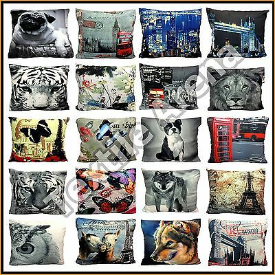 "Home Decorative Digital Photo Print 18""x18"" Pillow Case Sofa Seat Back Cover"
