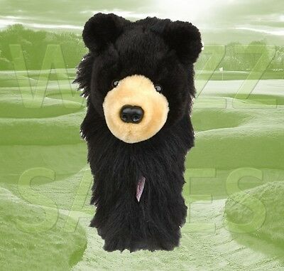 Black Bear Daphne's Large Novelty Golf Club Driver 1 Wood Headcover 460cc Head