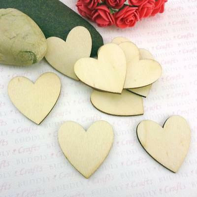 Buddly Crafts Wooden Hearts