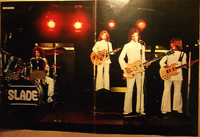 1 german poster SLADE NOT SHIRTLESS LIVE POP ROCK GLAM BAND BOYS TEEN IDOL 70s