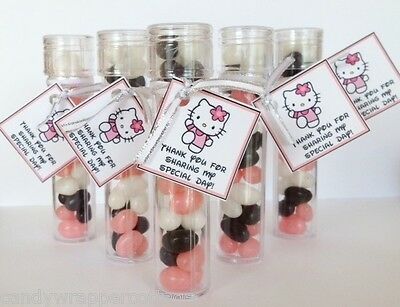 5 HELLO KITTY Jelly Bean Candy Birthday Baby Shower Party Favor Personalized Tag