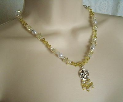 Sun Magic Pentacle Necklace, wiccan pagan wicca witch witchcraft pentagram