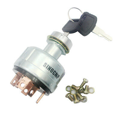 Hitachi Key Ignition Switch for Excavator EX200-1 with 6 Pins