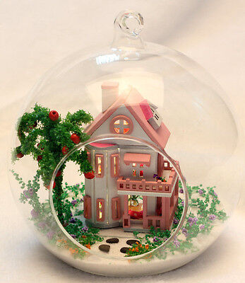 Dollhouse miniature diy kit : MG006,  Mini Allice House, with 5inch glass ball