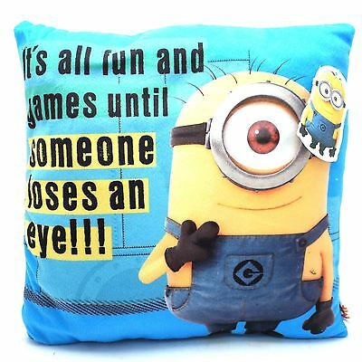 Ofiicial Despicable Me Minions Cushion Kids Playrooom Bedrrom Square