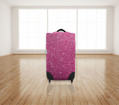Pink Sparkle Look Design Protective Suitcase Cover *suitcase Not Included*