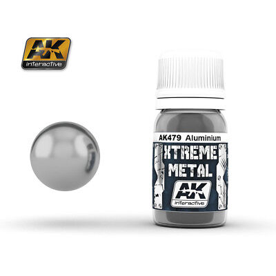 AK Interactive 30ml Extreme Metal Paints - Aluminium # 479