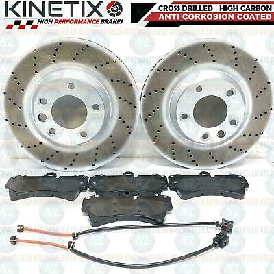 FOR PORSCHE CAYENNE 4.2 S FRONT DRILLED PERFORMANCE BRAKE DISCS PADS WIRES 360mm