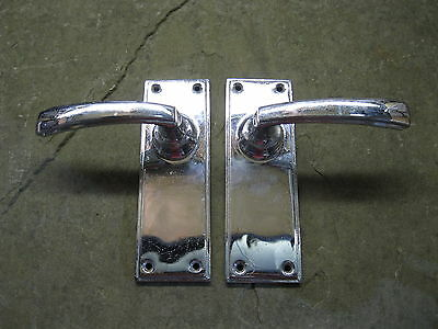Pair of Reclaimed Chrome Lever Handles 0151