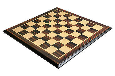 """Luxe Traditional Chess Board - STRIPED EBONY / MAPLE - 2.5"""" Squares"""