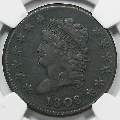 1808 S-279 NGC XF 40 Classic Head Large Cent Coin 1c